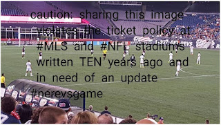 sample of a photo that I took that violates the ticket policy at #mls  and #nfl stadiums today, a rewrite of the policy is needed