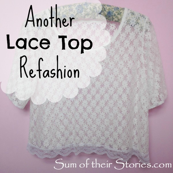 Another Lace Top Refashion