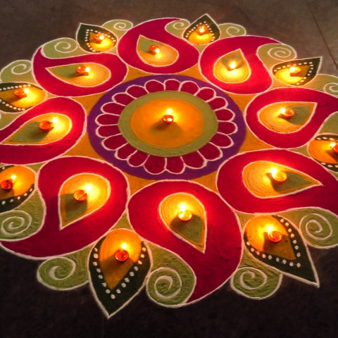 Beautiful and Best Rangoli Designs for Happy New Year
