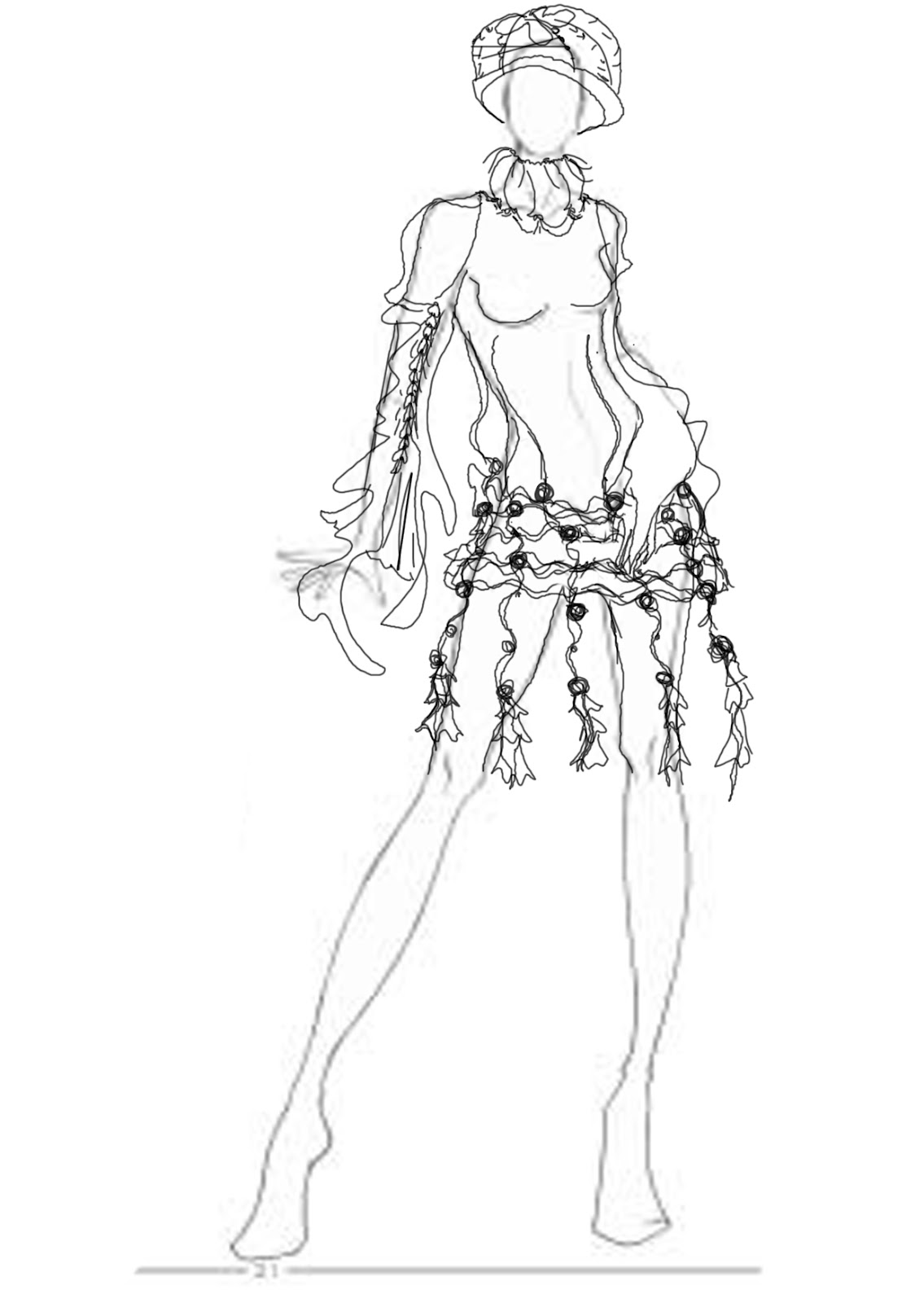 Clothes Design Body Form Coloring Pages