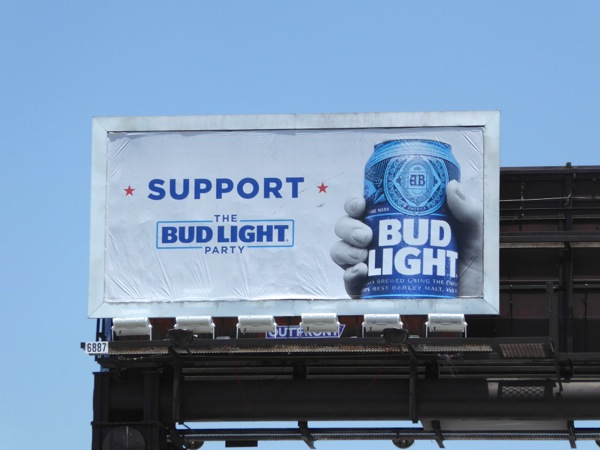 Support Bud Light Party billboard