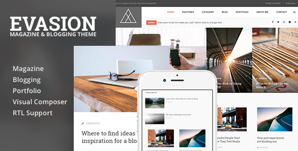 Magazine Blogging Style WordPress Theme