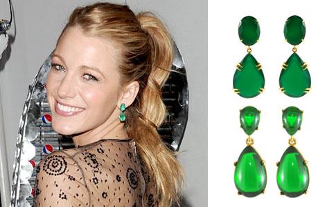 Kenneth Jay Lane Emerald Drop Earrings
