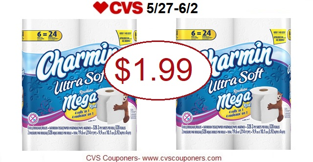 http://www.cvscouponers.com/2018/05/stock-up-charmin-toilet-paper-only-199.html