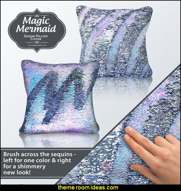 Magic Mermaid Sequin Home Decorative Throw Pillow Covers  Throw Pillows - decorative pillows - cushion covers - accent pillows - novelty pillows - unique pillows - Cushion Covers -  faux fur pillows - rhinestone  bling pillows - fun pillows - novelty throw pillows