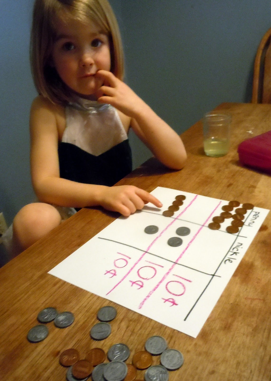 Adventures At The Kitchen Table Counting Coins