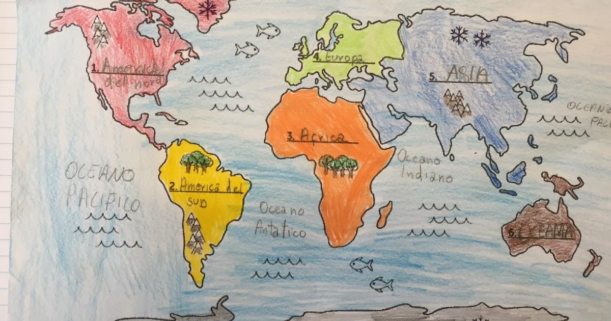 Cartina Politica Mondo 2017.Planisfero Politico Da Colorare