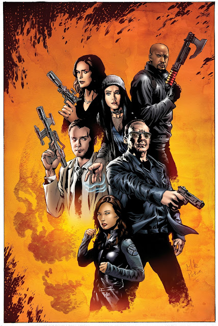 San Diego Comic-Con 2016 Exclusive Marvel's Agents of SHIELD Season 4 Television Poster by Mike Perkins