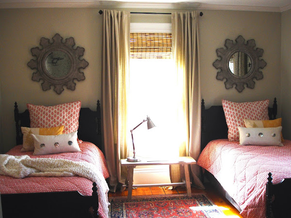 at last, a warm, inviting guest room
