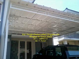 contoh canopy minimalis atap spandek