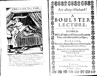 Frontispiece and Title page from Richard Braithwaite, A Boulster Lecture, London 1640