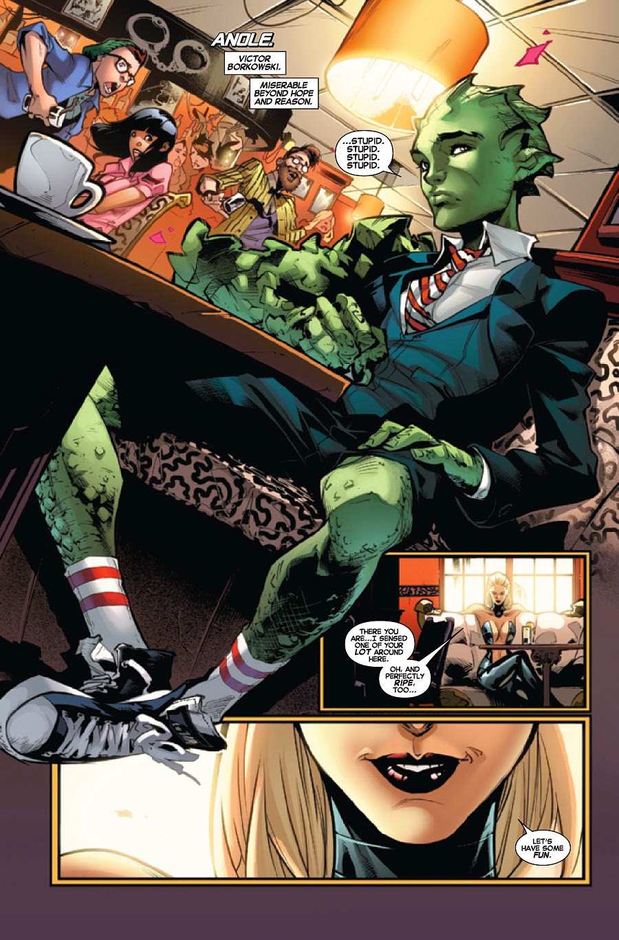 Anole stars in Amazing X-Men 13