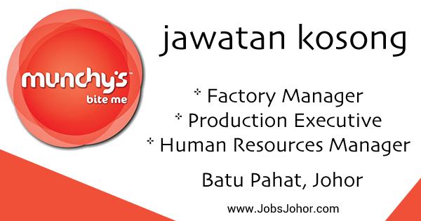 Jawatan Kosong Munchy Food Industries Sdn. Bhd. 2016 Batu Pahat Johor