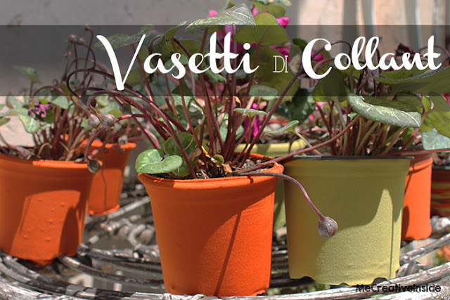 tutorial diy vasetti vasi rivestiti di collant me creative inside