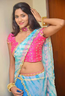 shalu chourasiya half saree photos