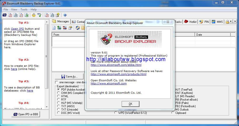 Elcomsoft backup Explorer