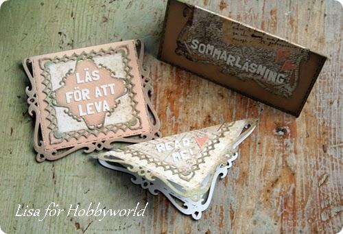 Med lite cardstock och några dies gör du enkelt dina egna bokmärken.