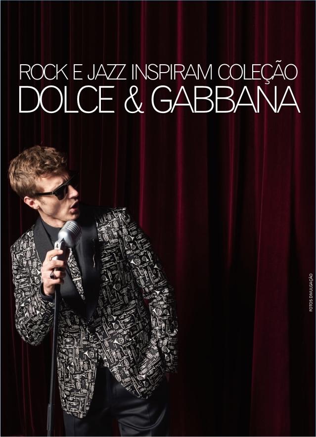 Com muito estilo e elegância, a Dolce   Gabbana lança sua coleção primavera-verão  2017 com inspirações a música, especialmente ao rock e jazz. 9e495ec788