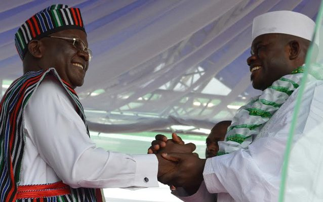 Kogi Unpaid Salary: Ortom's Reelection Brightens Yahaya Bello's 2nd Term Chances.