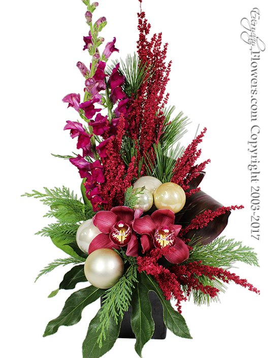 Happy Holidays Christmas Flowers by Everyday Flowers