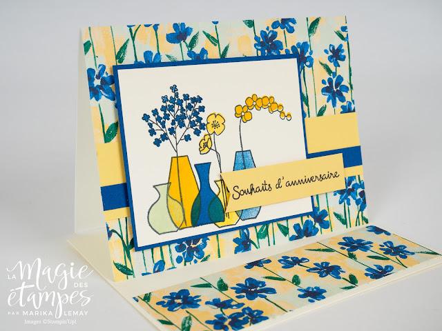 Cartes d'anniversaire Stampin'Up! créée avec le jeu d'étampes Vases Divers