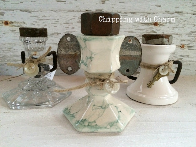 Chipping with Charm: Candle Holder Angels...www.chippingwithcharm.blogspot.com
