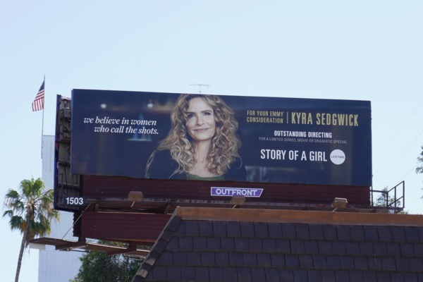 Kyra Sedgwick Story of a Girl Emmy FYC billboard