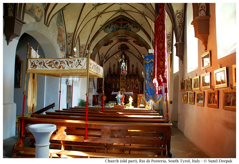 Interior, St Andrea church, Rio di Pusteria, South Tyrol, Italy - Images by Sunil Deepak