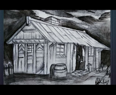 How to draw house scenery drawing, step by step guide