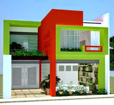 35 Contoh Kombinasi Cat Warna Hijau Pada Desain Rumah Minimalis