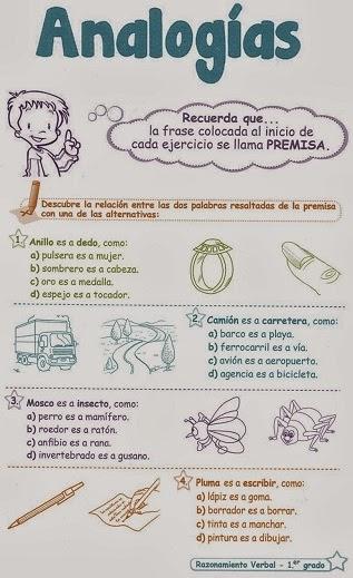 http://razonamiento-verbal1.blogspot.com/2013/12/analogias-para-ninos-1-grado-primaria.html