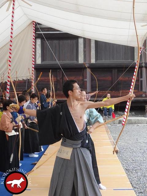 Compétition de tir à l'arc à Kyoto au temple SANJUSANGENDOU