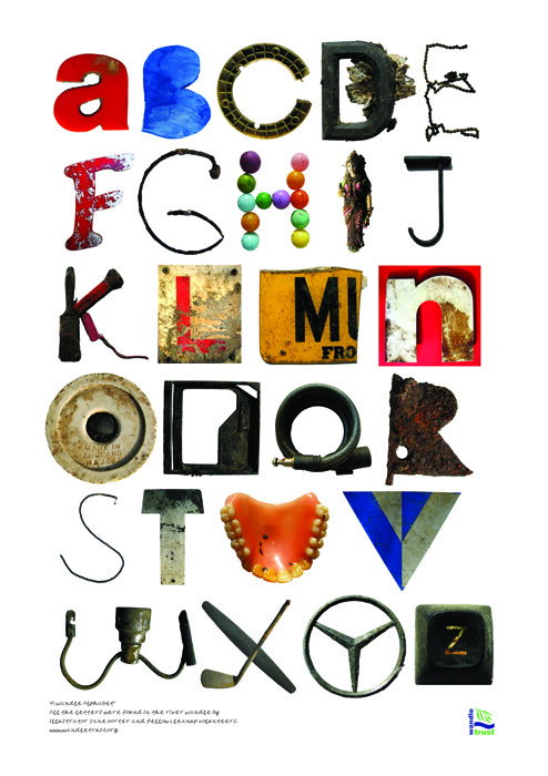 Letter Made Out Of Objects.River Wandle Alphabet Your Home Is Lovely
