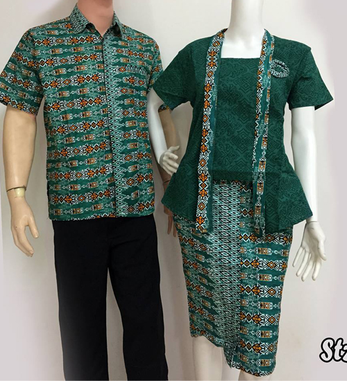 model baju batik couple modis