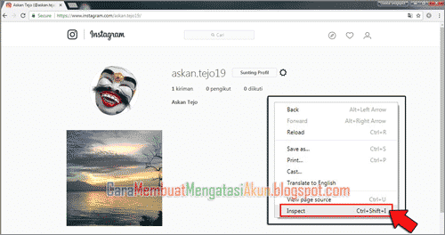 upload instagram via pc