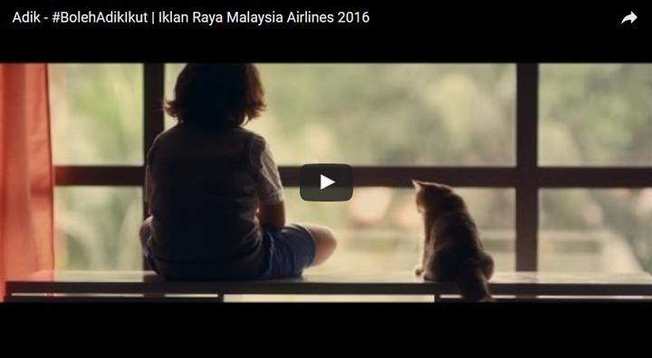 Iklan Raya 2016 #BolehAdikIkut Daripada MAS