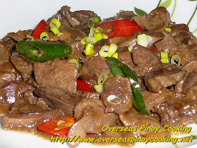 Stirfry Chicken Gizzard and Liver with Oyster Sauce