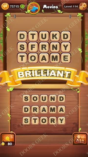 Word Bright Level 114 Answers, Cheats, Solutions, Walkthrough for android, iphone, ipad and ipod