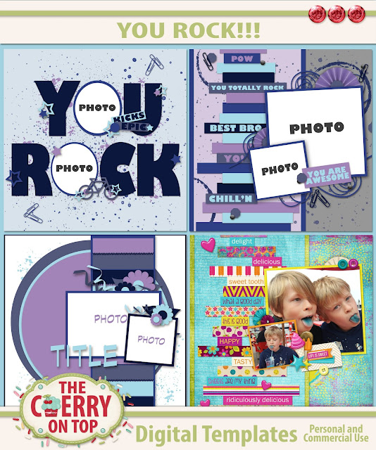 You Rock!  Templates from The Cherry On Top