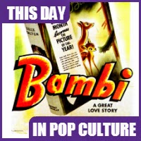 """""""Bambi"""" was released in theaters for the first time on August 13, 1942"""