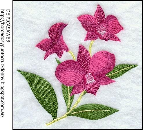 Bordados Y Punto Cruz Hermosas Flores Bordadas