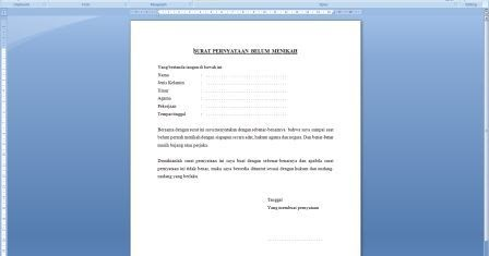 Arsip Kantor Download File Dokumen Gratis Contoh Surat Pernyataan
