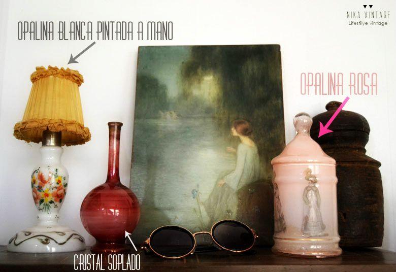 cristal, opalina, vidrio opalino, milk glass, decoracion, calleja, cuentos de calleja, opalinas