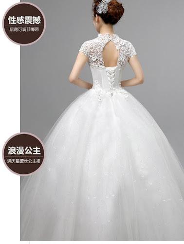 gaun pengantin tampak belakang