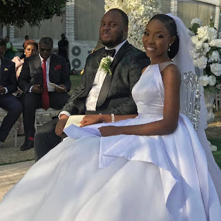 #Àṣéwẹ́rẹ́niṣẹ́Olúwa;Photos and Videos from Lala Akindoju and Chef Fregz's white wedding..