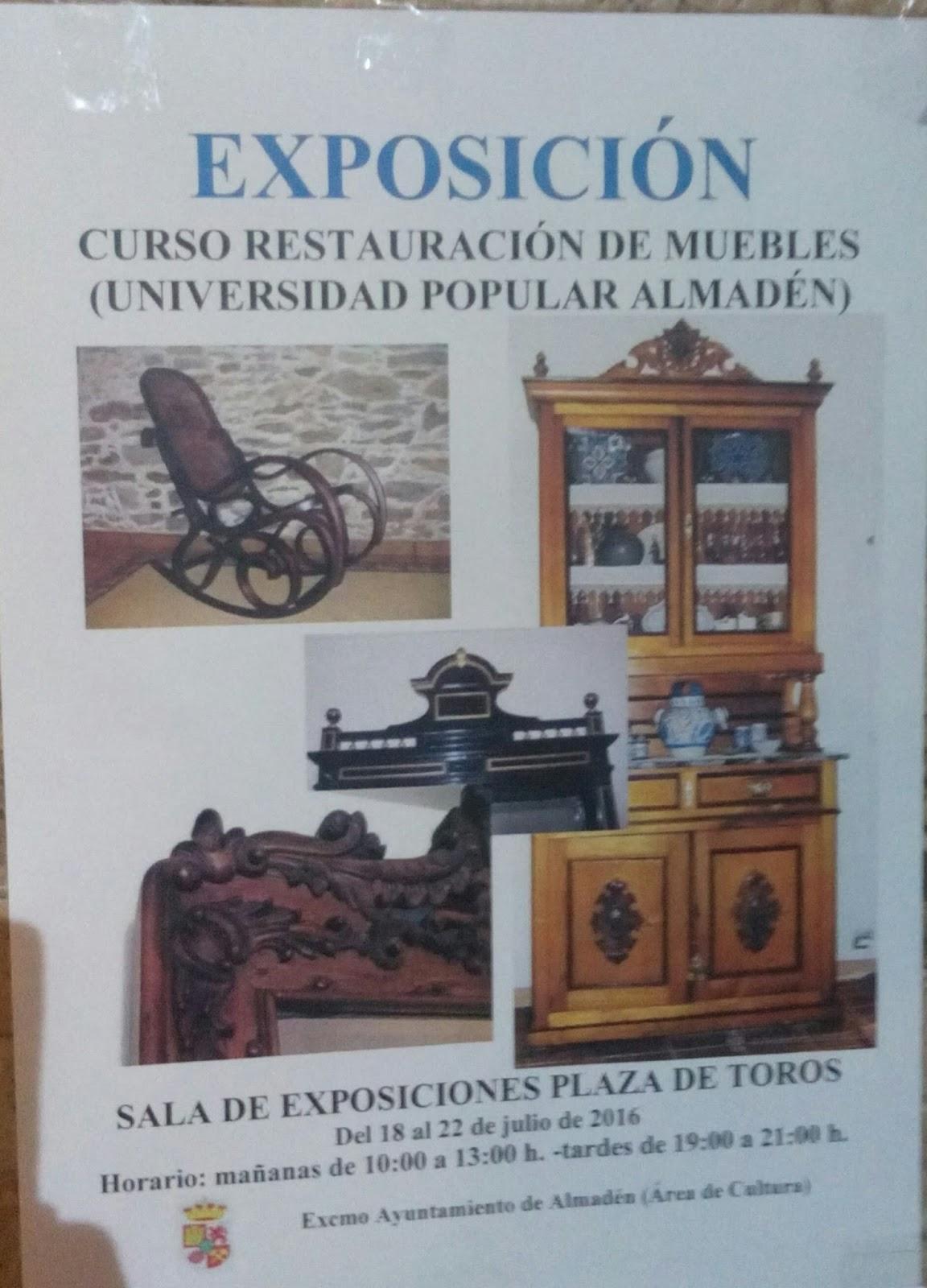 Cursos Restauracion Muebles : Exposición del curso de restauración muebles la uu