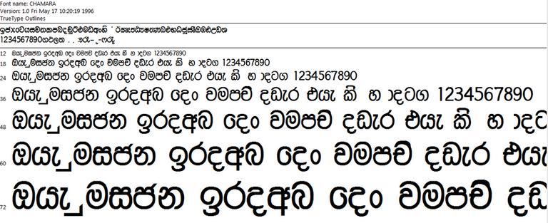 aradhana sinhala font
