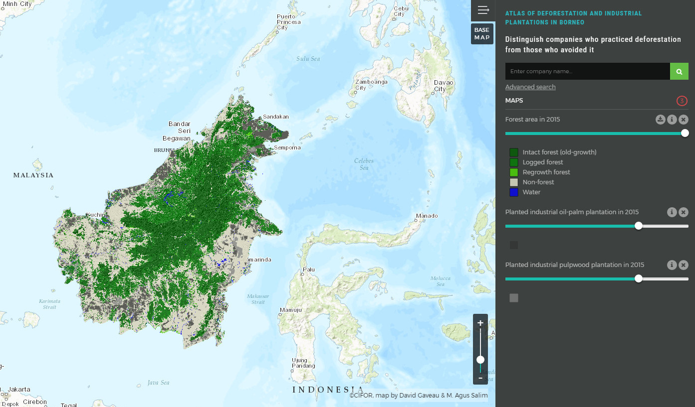 Atlas of deforestation & industrial plantations in Borneo