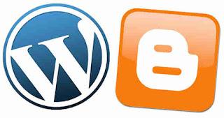 gambar wordpress dan blogspot