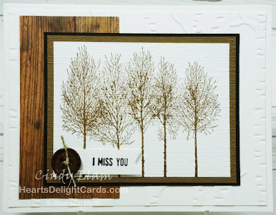 Heart's Delight Cards, Winter Woods, Masculine Card, Stampin' Up!